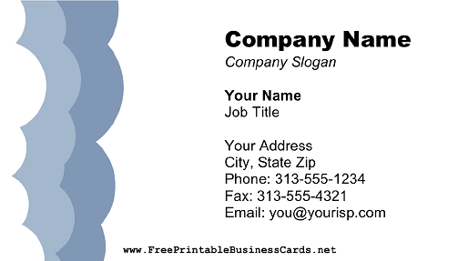 Puffy business card