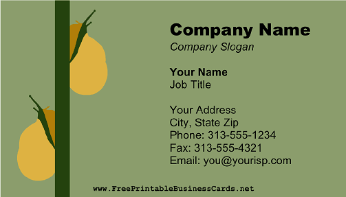 Snails on Branch business card