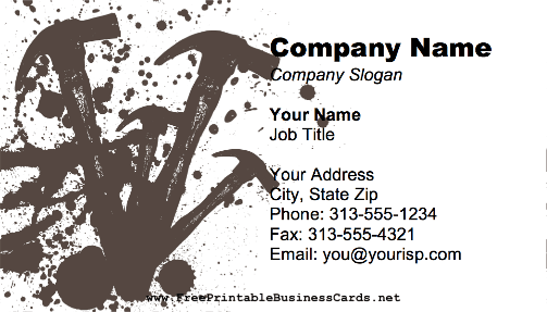 Carpenter Wrench business card