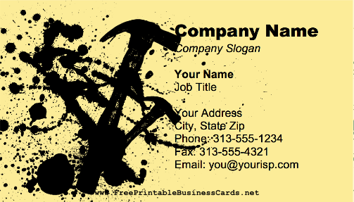 Carpenter Yellow business card