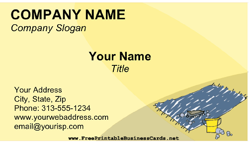 Carpet Cleaning business card