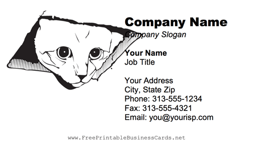 Ceiling Cat business card