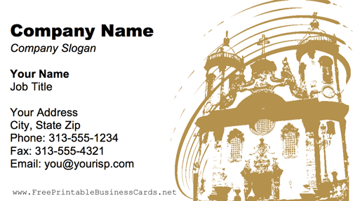 Cathedral Tan business card