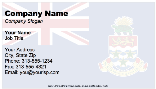 Cayman Islands business card