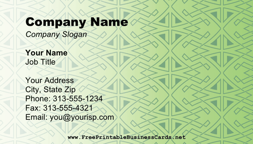 Celtic business card