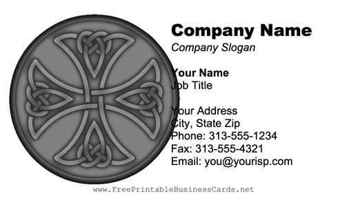 Celtic Cross business card