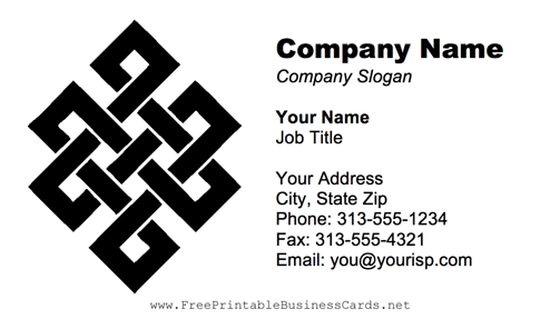 Celtic Design business card