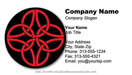 Celtic Pattern business card
