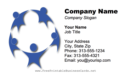 Child Circle Logo business card