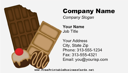 Chocolate 2 business card