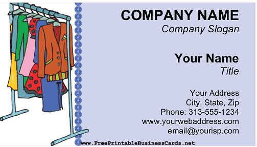 Clothing Consignment Shop business card