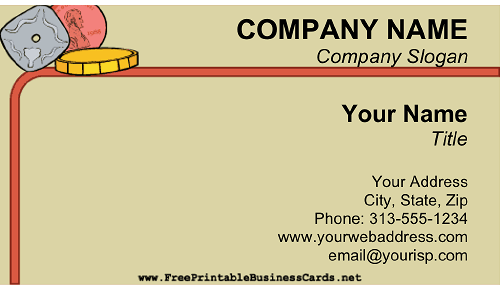 Coin Dealer business card
