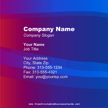 Metallic Square business card