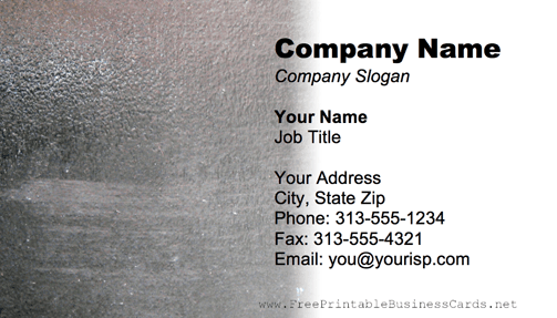 Concrete Texture business card