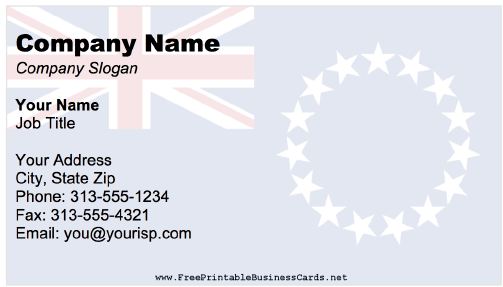 Cook Islands business card