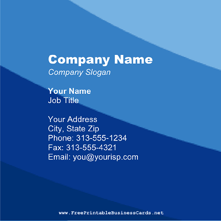 Blue Stripes Square business card