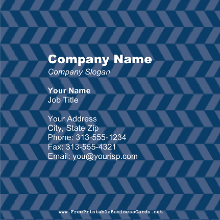 Blue Pattern Square business card