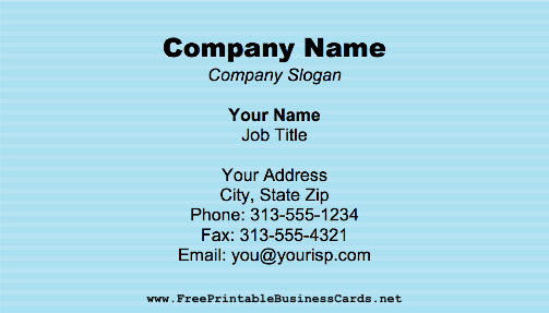 Corrugated Blue business card