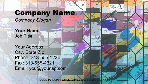 Cubism B business card