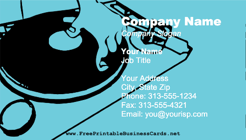 DJ Mixing business card