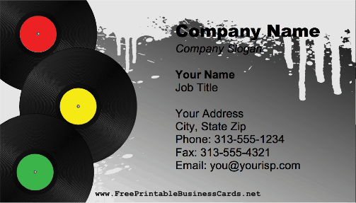 DJ Records business card