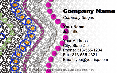 Decorations business card