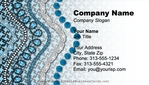 Decorations Blue business card