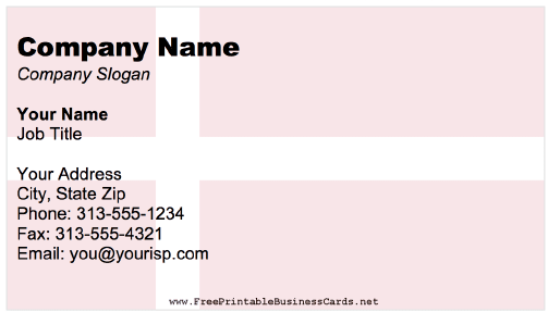 Denmark Business Card business card