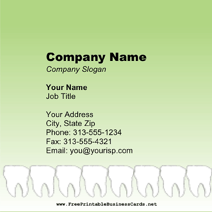 Teeth Square business card