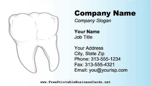 Dental Tooth business card