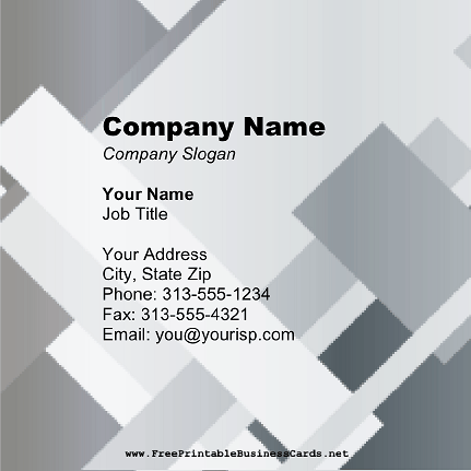 Gray Blocks Square business card