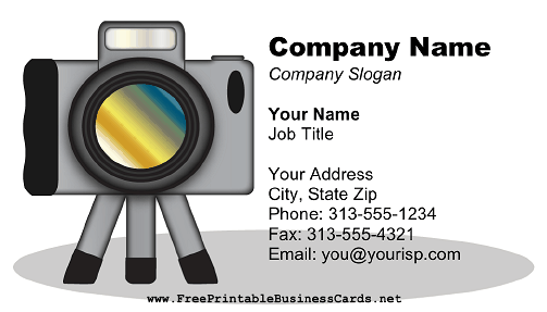 Digital Camera Tripod business card