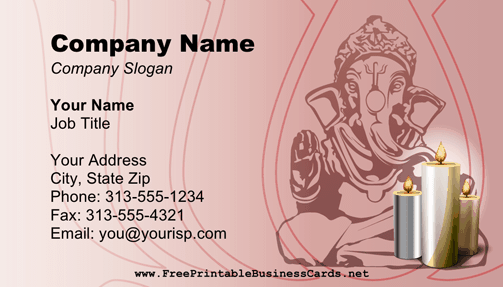 Diwali Business Card business card