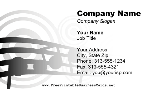 DJ Music Notes business card