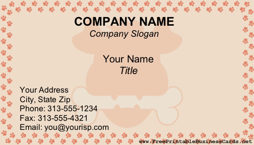 Dogs business card