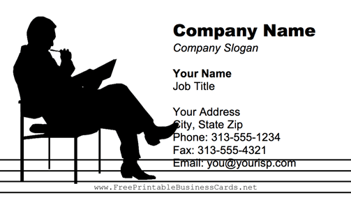 Editor business card