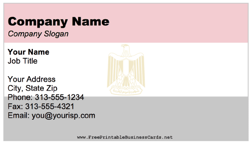 Egypt business card