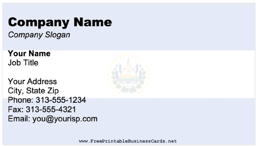 El Salvador business card