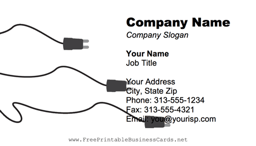 Electrical Cords business card
