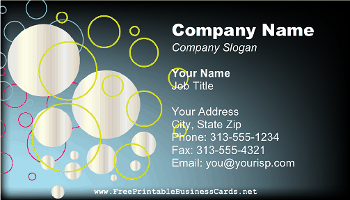 Silver Circles business card