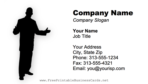 Entrepreneur Black And White business card