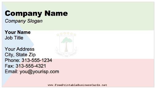 Equatorial Guinea business card