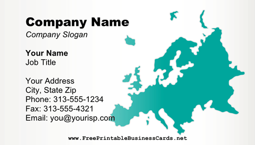 Europe business card