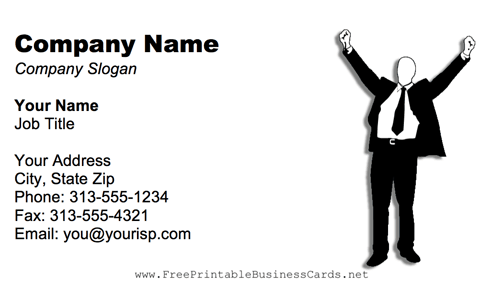 Excited Businessman business card