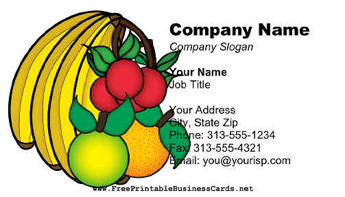 Fruit Grower business card