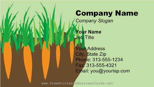 Carrot Patch business card