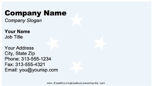 Federated States Of Micronesia business card