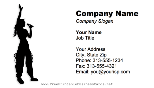 Singer business card