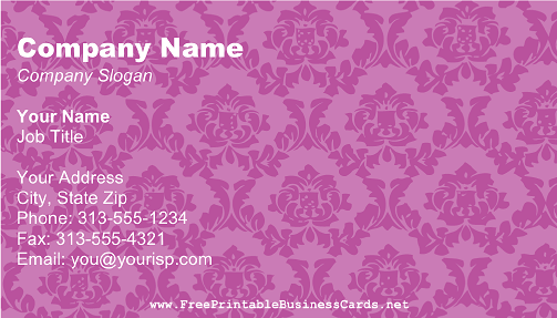 Purple Victorian business card