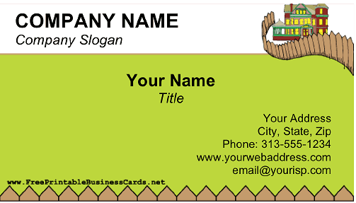 Fence Repair business card